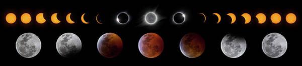 Solar And Lunar Eclipse Progression Poster