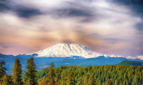 South Side View Of Mt. St. Helens Poster
