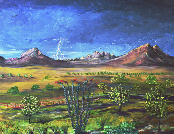 Poster featuring the painting Southern Arizona Grandeur  by Chance Kafka
