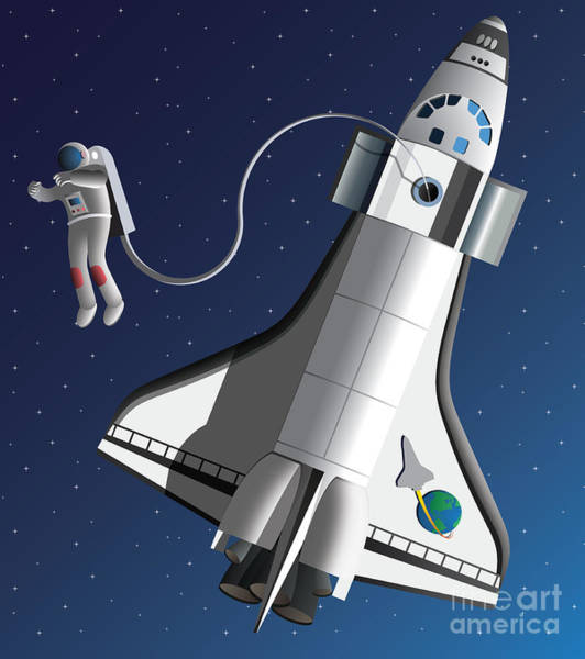 Space Walk Poster