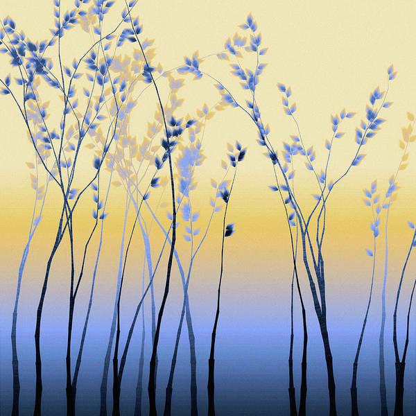 Poster featuring the digital art Spring Aspen by Susan Maxwell Schmidt