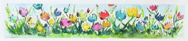 Poster featuring the painting Springtime Tulips by Wendy Ray