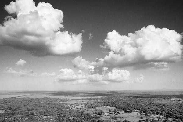 Sri Lankan Clouds In Black Poster