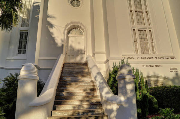 St George Temple Steps Poster
