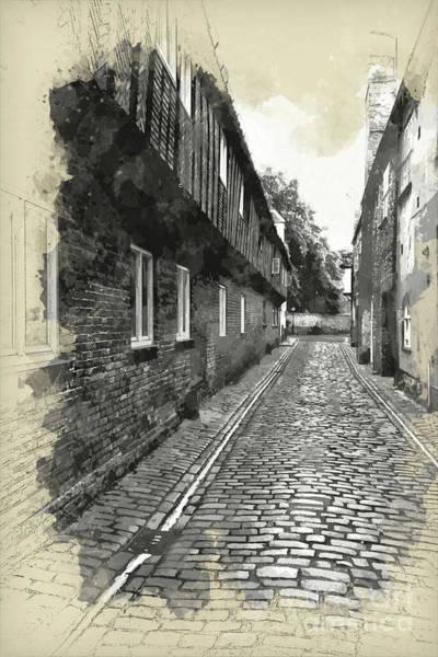 St Margarets Lane, Kings Lynn, England Poster