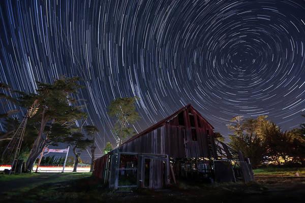 Star Trails Over Bonetti Ranch Poster