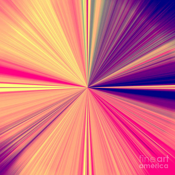 Starburst Light Beams In Abstract Design - Plb457 Poster