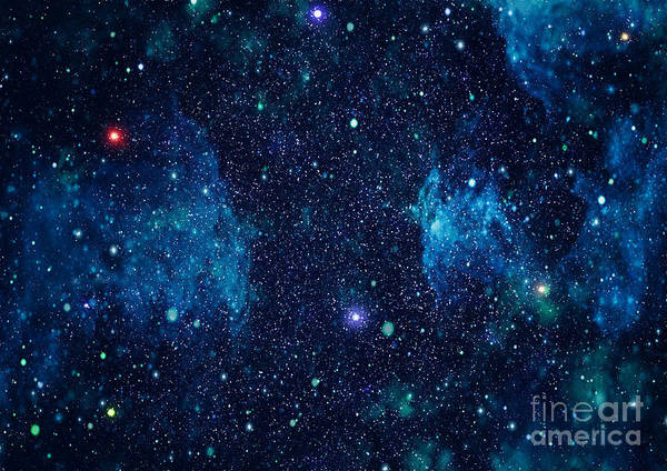 Starry Outer Space Background Texture Poster