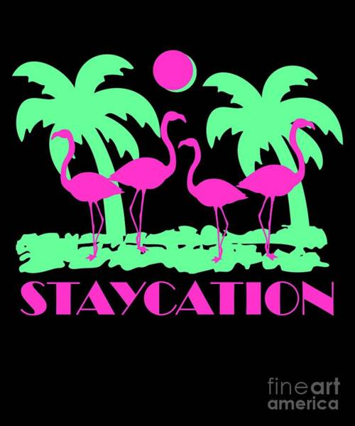 Poster featuring the digital art Staycation by Flippin Sweet Gear
