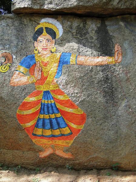 Stone Painting Of Nautch Dancing Gir Poster