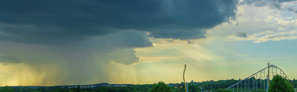 Storm Approaching Amusement Park Poster