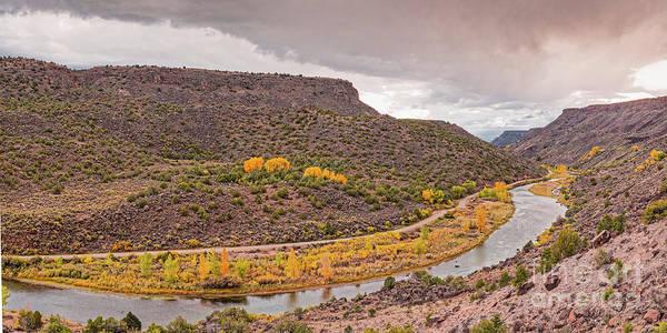 Stormy Skies Over The Rio Grande Del Norte At Orilla Verde - Taos County New Mexico Poster