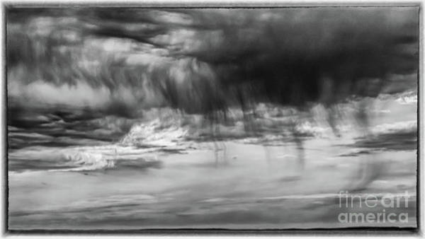 Stormy Sky In Black And White Poster