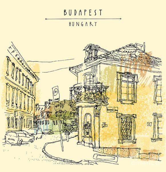 Street Corner In Budapest City Poster