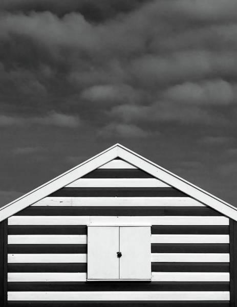 Stripes On Beach Hut Poster