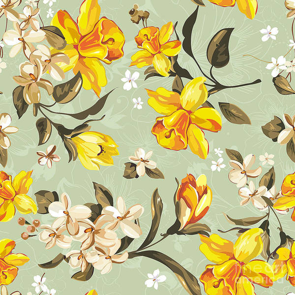 Stylish Beautiful Bright Floral Poster