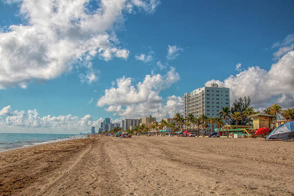 Sunny Day At Hollywood Beach Poster