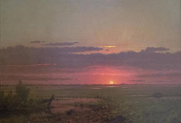 Sunrise Over The Marsh Poster