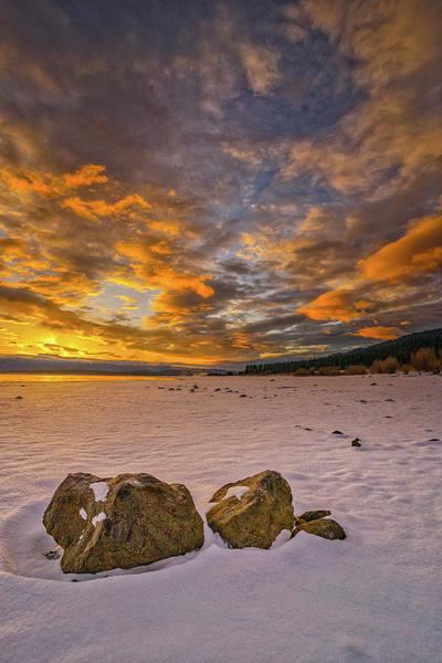 Sunrise Rocks Poster