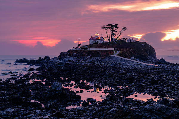 Sunset And Low Tide At Battery Point Poster