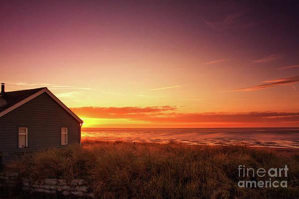 Sunset At Snettisham Beach, Norfolk Poster
