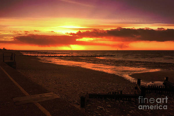 Sunset, Hunstanton Beach, Norfolk Poster