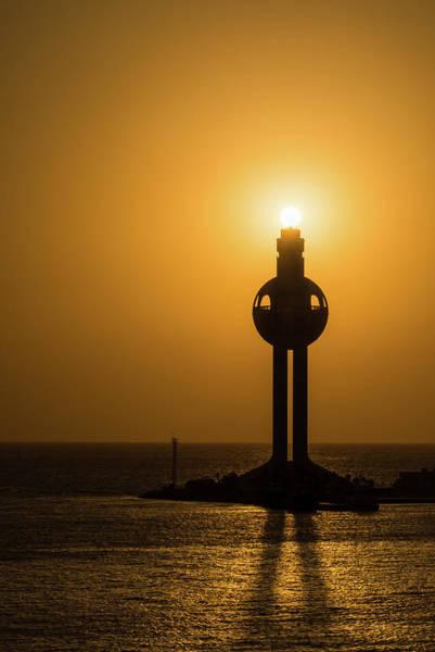 Sunset In Port Jeddah, Saudi Arabia Poster