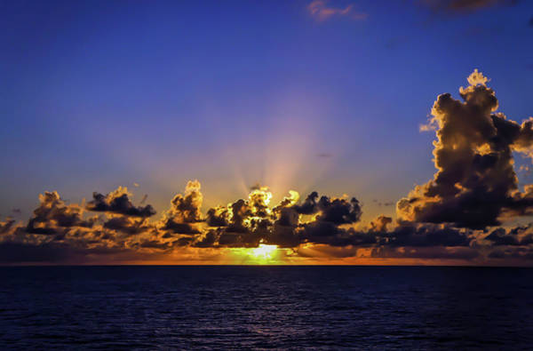 Poster featuring the photograph Sunset In The Bahamas by Dawn Richards