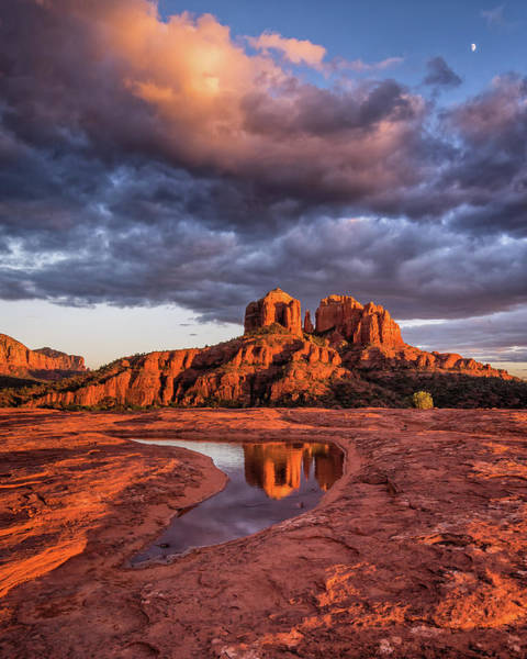 Sunset Light On Cathedral Rock Poster
