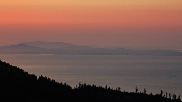 Sunset Of The Olympic Mountains Poster