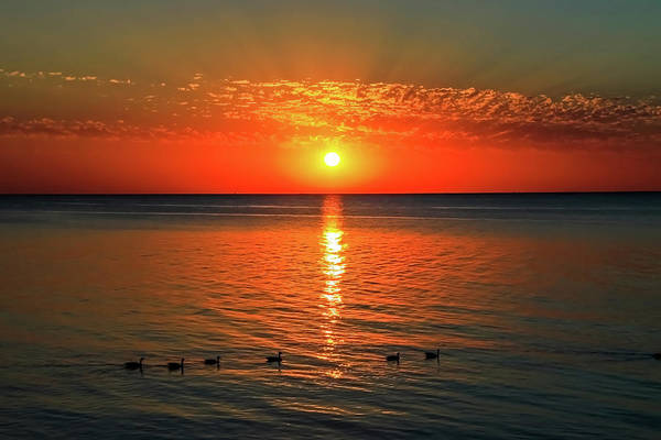 Poster featuring the photograph Sunset On Green Bay by Dawn Richards