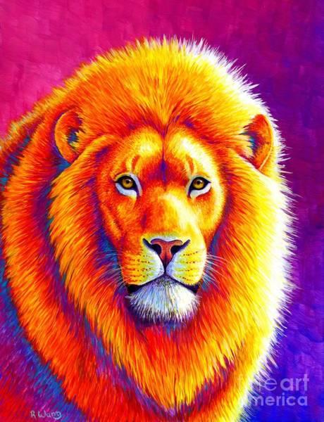 Sunset On The Savanna - African Lion Poster