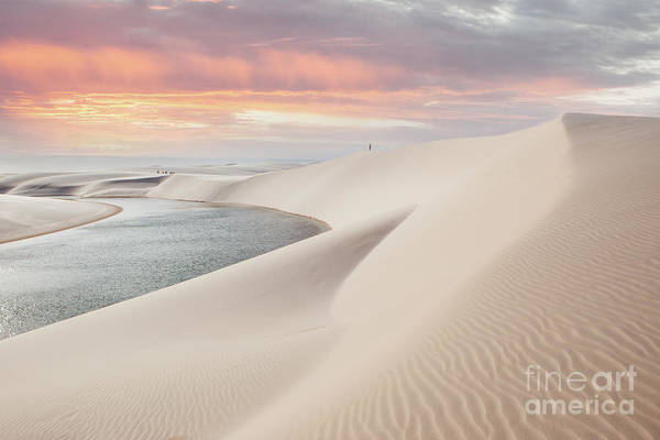 Sunset Over The Sand Dunes And Lagoons Poster