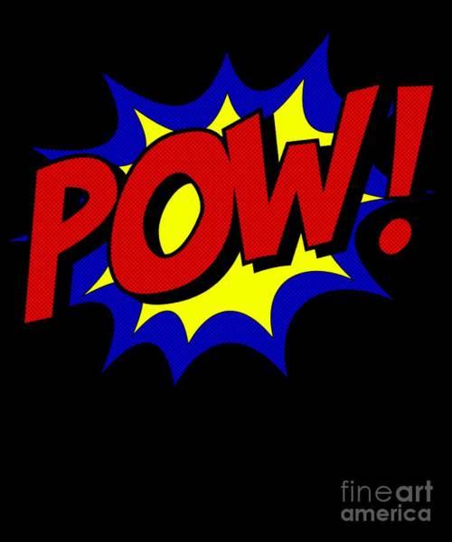 Poster featuring the digital art Superhero Pow by Flippin Sweet Gear