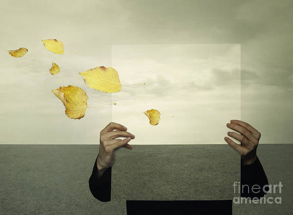 Surreal Landscape With A Person Who Poster