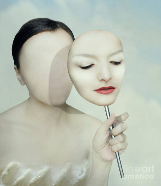 Surreal Portrait Of A Woman Faceless Poster