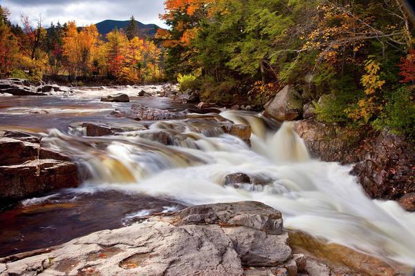 Swift River Rapids Along Kancamagus Poster