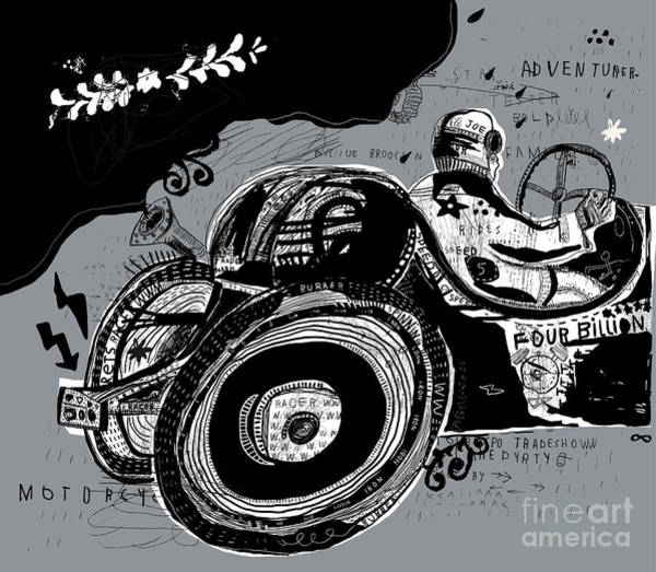 Symbolic Image Of An Old Sports Car Poster
