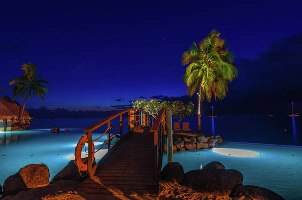 Tahitian Nightscape Poster