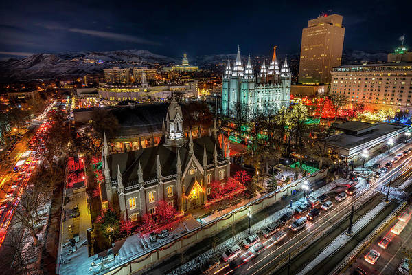 Temple Square Lights Poster