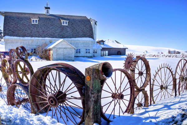 The Barn In Winter Poster