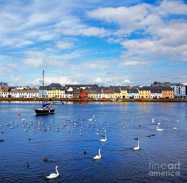 The Claddagh In Galway City During Poster