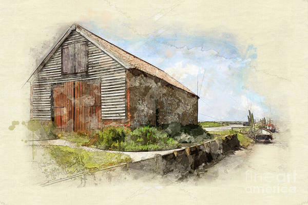 The Coal Barn At Thornham Staithe Poster