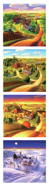 The Four Seasons Vertical Format Poster