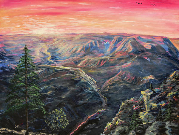 Poster featuring the painting The Grand Canyon by Chance Kafka