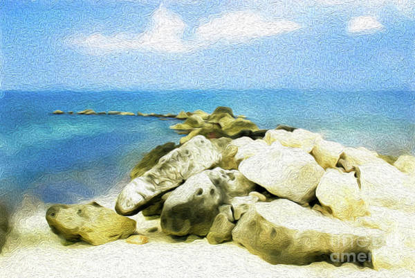 The Jetty At Seven Mile Beach In Grand Cayman Poster