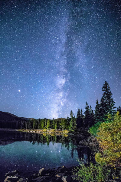 The Milky Way Over Echo Lake Poster