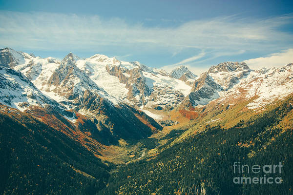 The Mountain Autumn Landscape With Poster