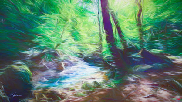 The Stream In The Forest Poster
