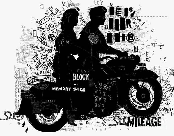 The Symbolic Image Of The Motorcycle On Poster